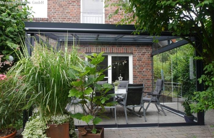 Terrassendach mit Glasschiebewänden Verandadreams GmbH